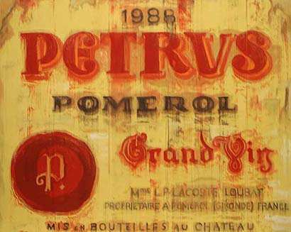 'Picture of wine (petrus)', 2008 von Djawid C. Borower